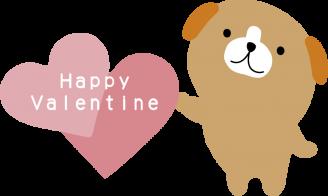 バレンタイン犬